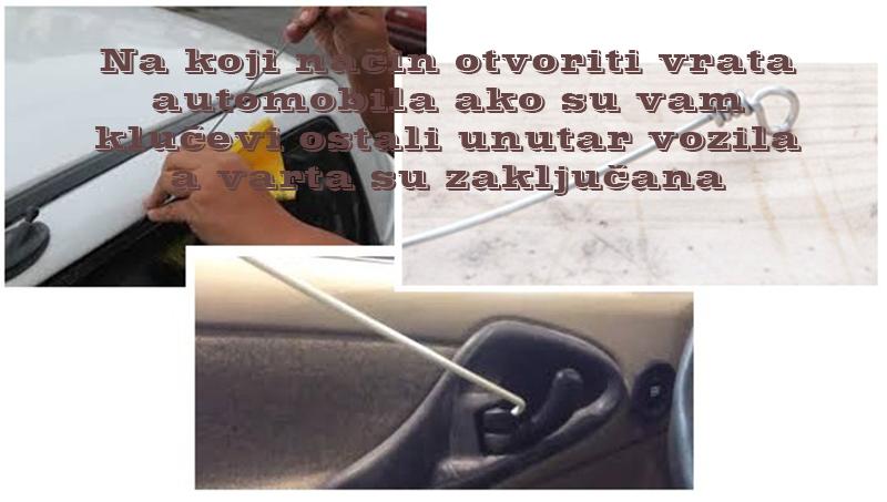 Kako otvoriti vrata automobila